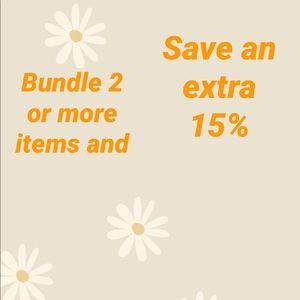 Bundle to get an extra 15% discount